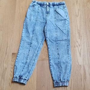Wild Fable High Rise Acid Wash Jogger Jeans - SZ M